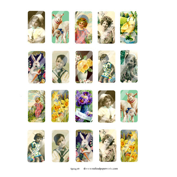 New! Spring 49 Domino Collage Sheet