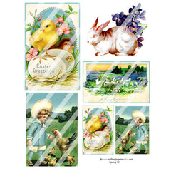 spring and easter collage sheets