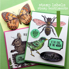 Rubber Stamp - Vintage Labels