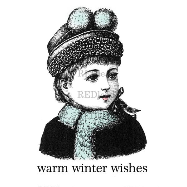 Christmas Rubber Stamp - Winter Wishes
