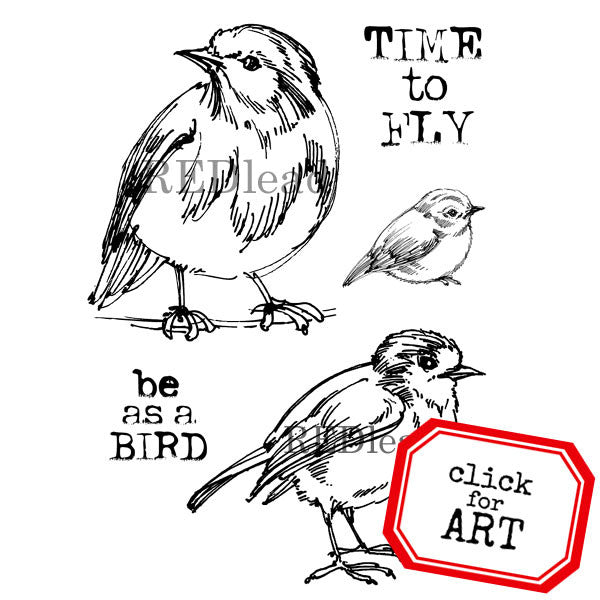 Time To Fly Bird Rubber Stamp Save 25%