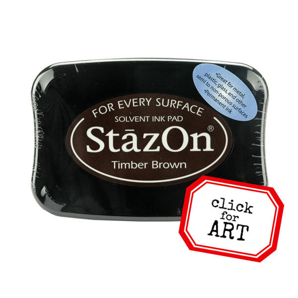 staz on timber brown ink pad