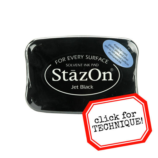 Stazon Jet Black Ink Pad - Save 10%