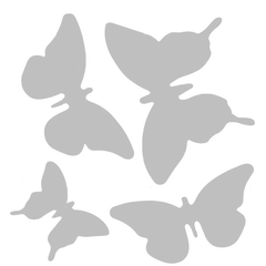 "Art Stencil - Four Butterflies - 6"" x 6"""
