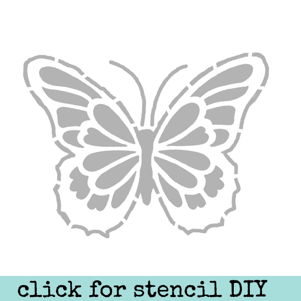 "Art Stencil Artful Butterfly 6"" x 6"" Save 50%"