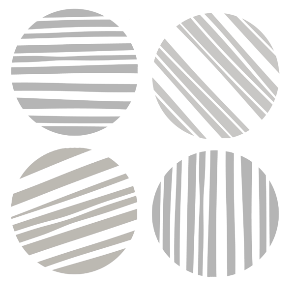 "6"" x 6"" Art Stencil - Circle of Stripes"