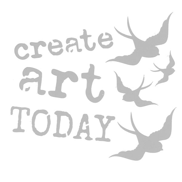 "Create Art Today 6"" x 6"" Art Stencil"