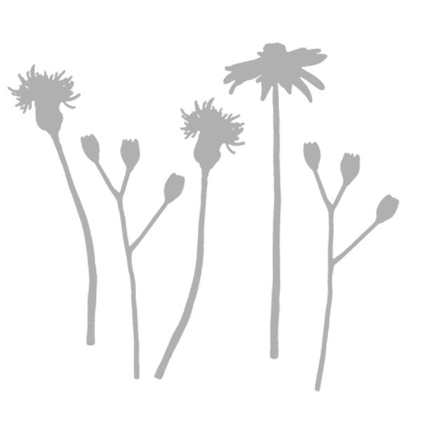 "Art Stencil - Summer Floral Stems - 6"" x 6"""