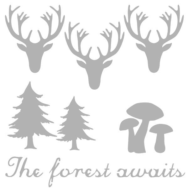 "The Forest Awaits 6"" x 6"" Stencil Save 30%"