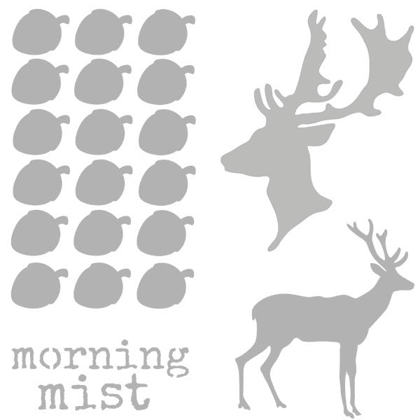 "Morning Mist 6"" x 6"" Stencil Save 30%"