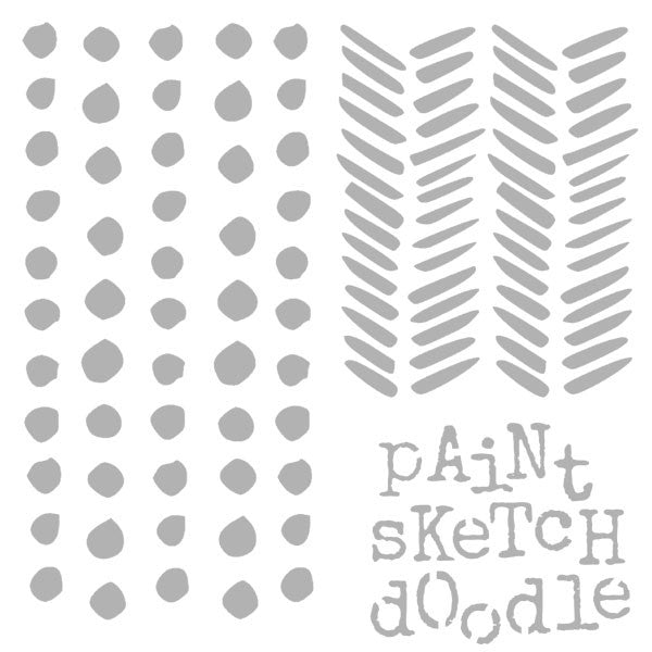 "6"" x 6"" Art Stencil Paint Sketch Doodle Save 25%"