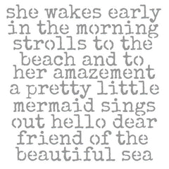 She Wakes Early in the Morning Stencil 6 x 6 Save 30%
