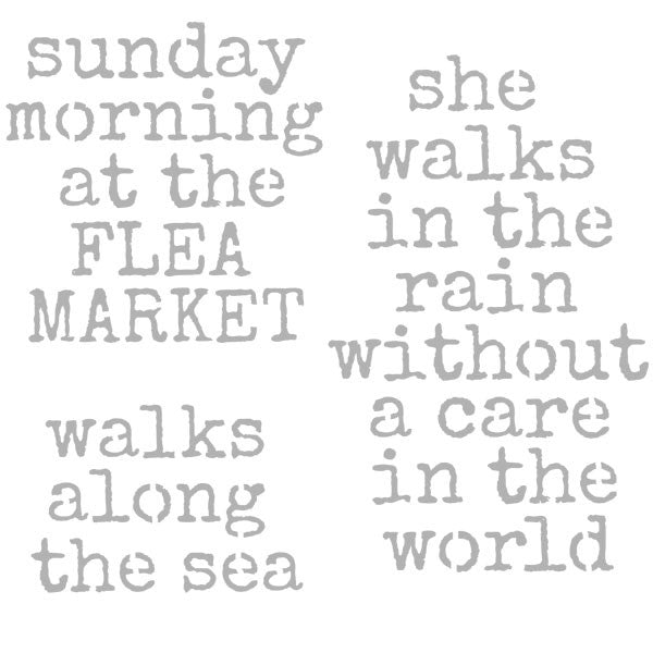 "Sunday Morning at the Flea Market 6"" x 6"" Stencil"