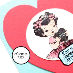 Little Labels XOX Valentine Rubber Stamp