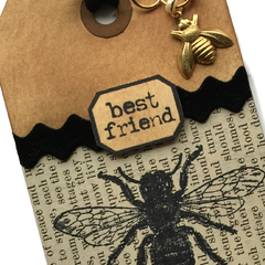 best friend hand made tag