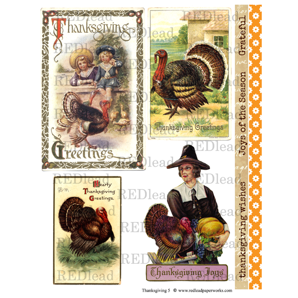 Thanksgiving Collage Sheet 5