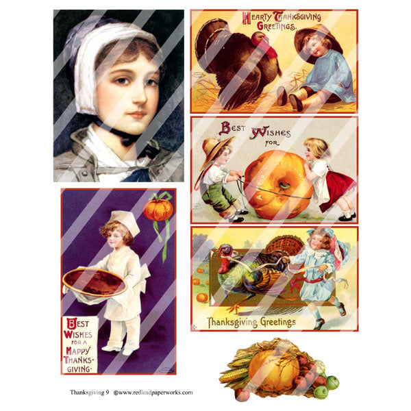 Thanksgiving 9 Collage Sheet
