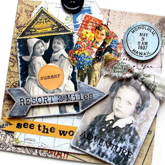Vintage Elements 203 Travel Collage Sheet