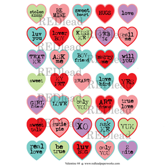 valentine hearts papers