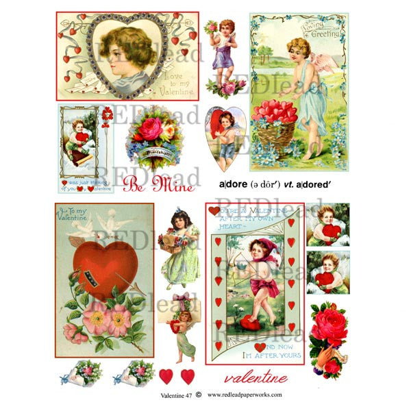 A Valentine Collage Sheet 47