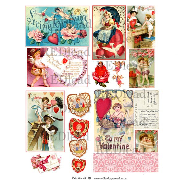 A Valentine Collage Sheet 48