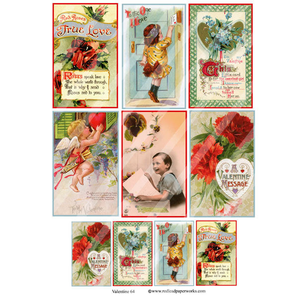 Valentine Collage Sheet 64