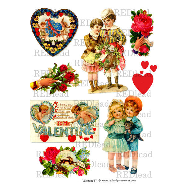 Valentine Collage Sheet 57