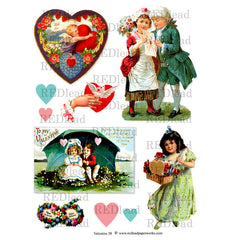 Valentine Collage Sheet 58
