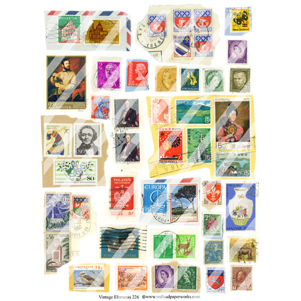 postage collage sheets