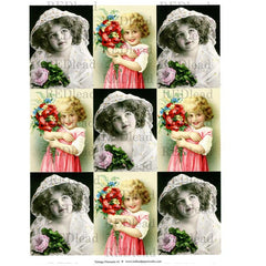 Collage Sheet Vintage Elements 41