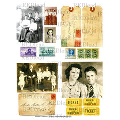 Collage Sheet Vintage Elements 47