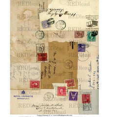 Collage Sheet Vintage Elements 51