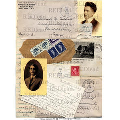 Vintage Elements 70 Collage Sheet