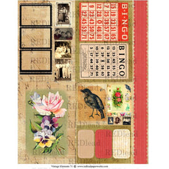 Vintage Elements 71 Collage Sheet