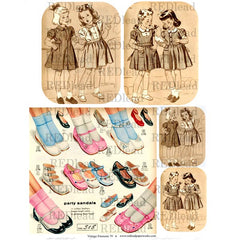 * Collage Sheet Vintage Elements 79