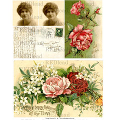 Collage Sheet Vintage Elements 84