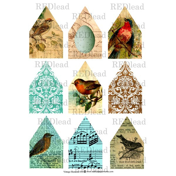 Collage Sheet Vintage Elements  100