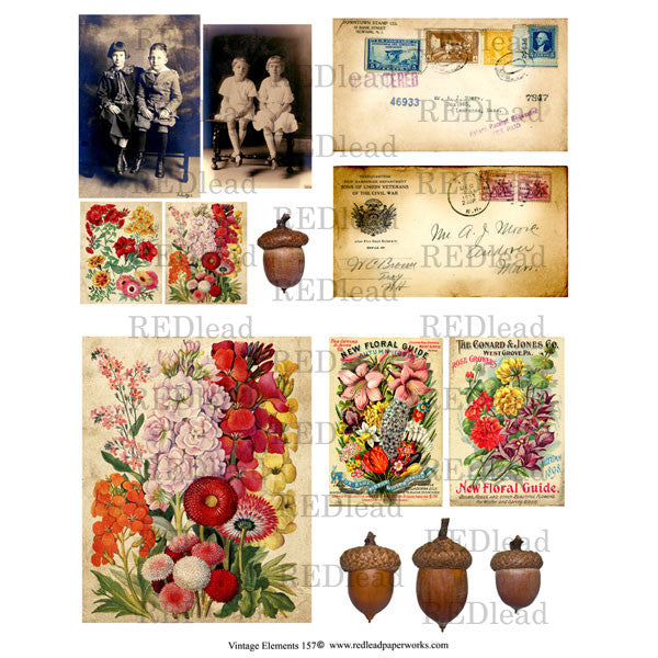 Vintage Elements 157 Collage Sheet