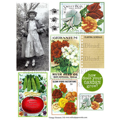 Collage Sheet Vintage Elements 3