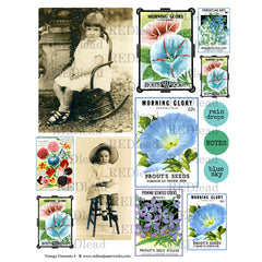 Collage Sheet Vintage Elements 4
