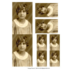 vintage photo collage sheet 13