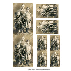 vintage photos collage sheet 2