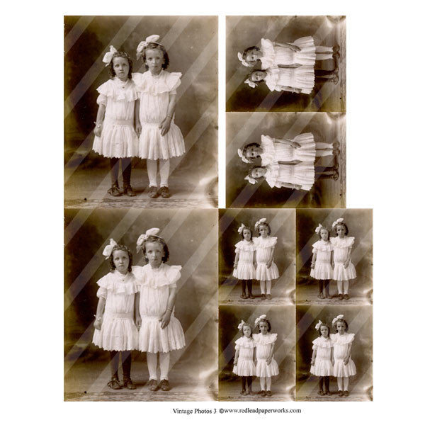 vintage photos collage sheet 3