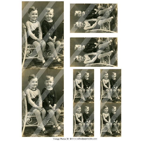 Vintage Photos Collage Sheet 30