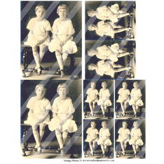 vintage photos 35 collage sheet