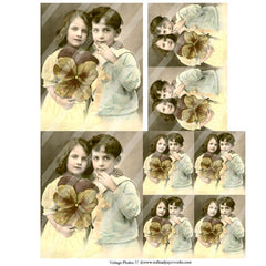 Vintage Photos 37 Collage Sheet