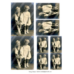 vintage photos Collage Sheet 5