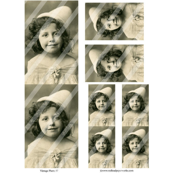 Vintage Photos 57 Collage Sheet