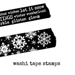 Rubber Stamp Stamp Some Tape Christmas Greetings Snowflakes