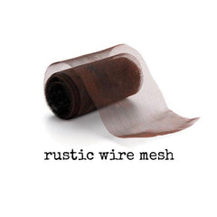 Rustic Rusted Wire Mesh